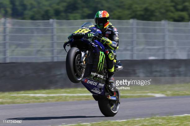Valentino Rossi of Monster Energy Yamaha MotoGP during the free practice 3 of the Oakley Grand Prix of Italy, at International Circuit of Mugello, on...