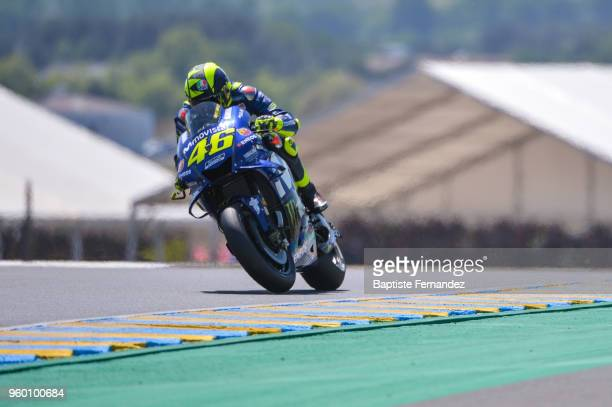 Valentino Rossi of Movistar Yamaha during the Moto GP Grand Prix de France qualifying session at Circuit Bugatti on May 19 2018 in Le Mans France