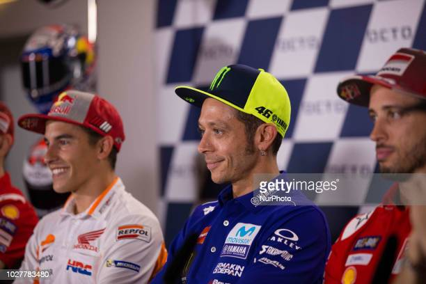 Valentino Rossi of Movistar Yamaha MotoGP during the presentation press conference of the OCTO Grand Prix of San Marino e della Riviera di Rimini at...