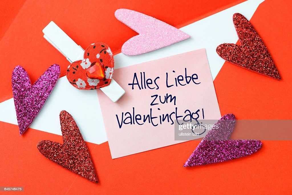 Valentinstagsbrief Und Herzen