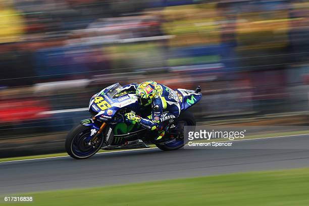 Valention Rossi of Italy and Movistar Yamaha MotoGP rides during the 2016 MotoGP of Australia at Phillip Island Grand Prix Circuit on October 23 2016...