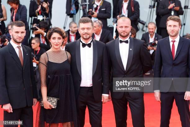 Valentyn Vasyanovych Andrii Rymaruk and Liudmyla Bileka walk the red carpet ahead of the closing ceremony of the 76th Venice Film Festival at Sala...
