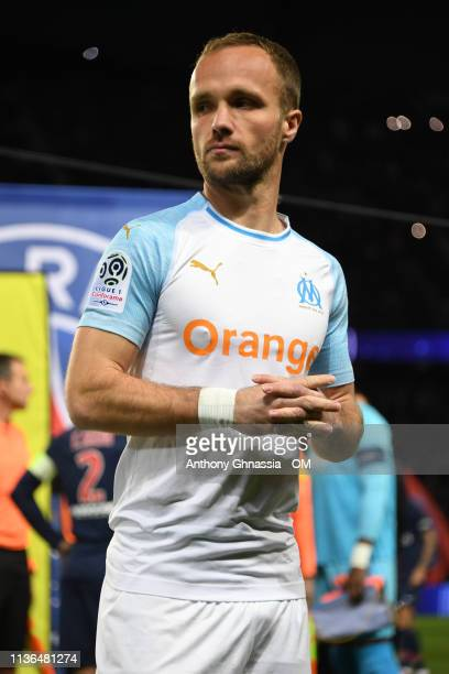 Valere Germain during the Ligue 1 match between Paris Saint Germain and Olympique de Marseille at Parc des Princes on March 17 2019 in Paris France