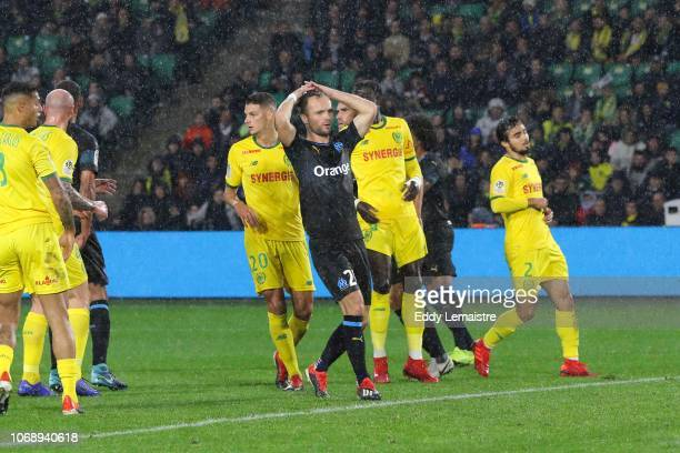 Valere Germain of Marseille during the French Ligue 1 match between FC Nantes and Olympique de Marseille on December 5 2018 in Nantes France