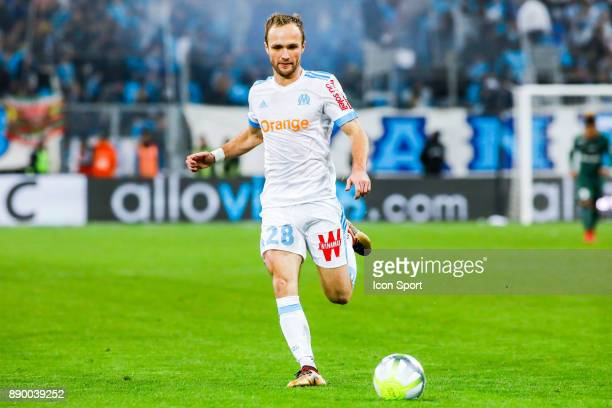 Valere Germain of Marseille during the Ligue 1 match between Olympique Marseille and AS SaintEtienne at Stade Velodrome on December 10 2017 in...