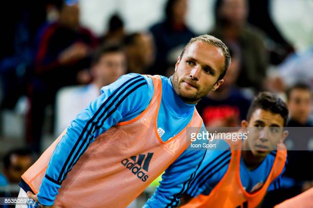 Valere Germain of Marseille during the Ligue 1 match between Olympique Marseille and Toulouse at Stade Velodrome on September 24 2017 in Marseille...