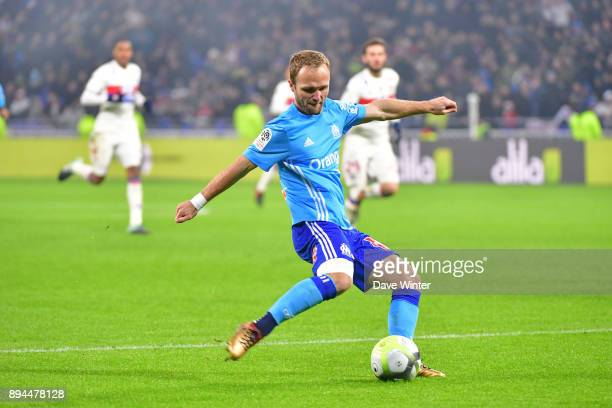 Valere Germain of Marseille during the Ligue 1 match between Olympique Lyonnais and Olympique Marseille at Parc Olympique on December 17 2017 in Lyon...