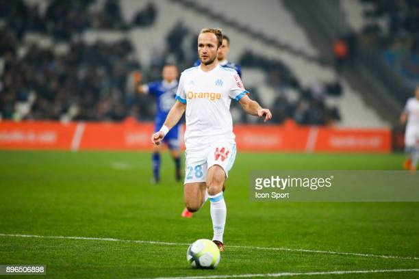 Valere Germain of Marseille during the Ligue 1 match between Olympique Marseille and Troyes AC at Stade Velodrome on December 20 2017 in Marseille