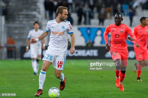 Valere Germain of Marseille during the Ligue 1 match between Olympique Marseille and SM Caen at Stade Velodrome on November 5 2017 in Marseille