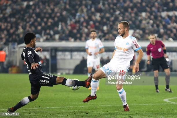 Valere Germain of Marseille during the Ligue 1 match between FC Girondins de Bordeaux and Olympique Marseille at Stade Matmut Atlantique on November...