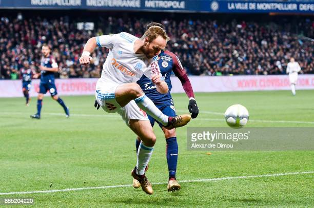 Valere Germain of Marseille during the Ligue 1 match between Montpellier Herault SC and Olympique Marseille at Stade de la Mosson on December 3 2017...