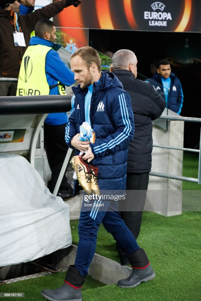 Valere Germain of Marseille during the Uefa Europa League match between Olympique de Marseille and Red Bull Salzburg at Stade Velodrome on December 7, 2017 in Marseille, France.