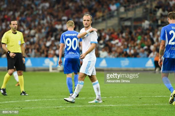 Valere Germain of Marseille during the Uefa Europa League Playoffs match second leg between Olympique de Marseille and NK Domzale at Stade Velodrome...
