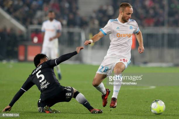 Valere Germain of Marseille in action during the Ligue 1 match between FC Girondins de Bordeaux and Olympique Marseille at Stade Matmut Atlantique on...