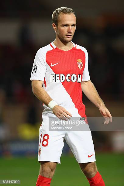 Valere Germain of Monaco during the UEFA Champions League Group E match between AS Monaco FC and Tottenham Hotspur FC at Louis II Stadium on November...