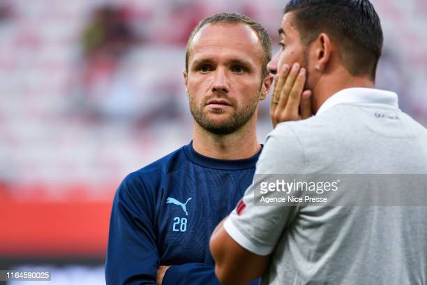 Valere Germain of OM during the Ligue 1 match between OGC Nice and Olympique de Marseille on August 28, 2019 in Nice, France.