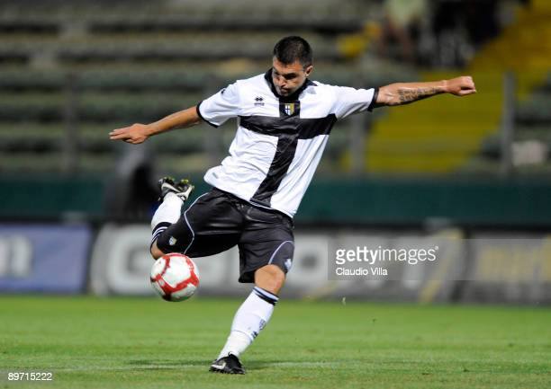 Valeri Bojinov of Parma FC in action during the friendly match between Parma FC and Osasuna at Ennio Tardini stadium on August 8 2009 in Parma Italy