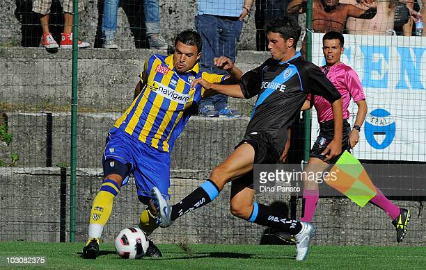 Valeri Bojinov of Parma in action during the preseason friendly match between Parma and Spal at Stadio Comunale on July 25 2010 in Levico near Trento...