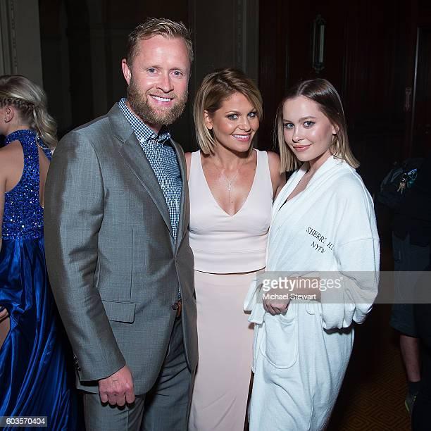 Valeri Bure, actress Candace Cameron Bure and Natasha Bure attend the Sherri Hill fashion show during September 2016 New York Fashion Week: The Shows...