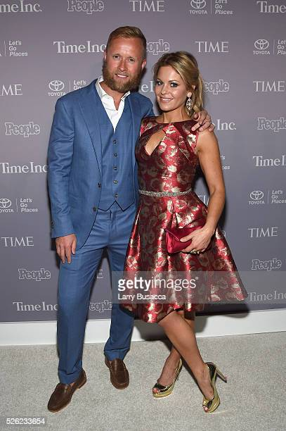 Valeri Bure and Candace CameronBure attend TIME and People's Annual White House Correspondents' Association Cocktail Party at St Regis Hotel on April...
