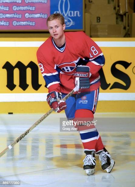 Valeri Bure of the Montreal Canadiens skates against the Toronto Maple Leafs on February 3, 1996 at Maple Leaf Gardens in Toronto, Ontario, Canada.