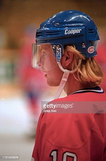 Valeri Bure of the Montreal Canadiens skates against the Toronto Maple Leafs during NHL preseason game action on September 12, 1994 at Maple Leaf...