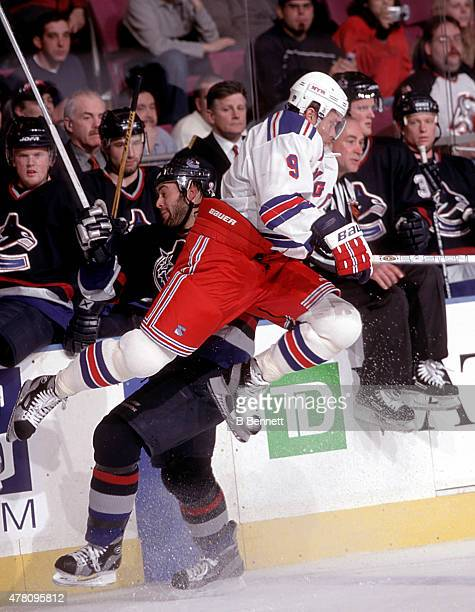 Valeri Bure of the New York Rangers skates against the Vancouver Canucks on January 1 1980 at Madison Square Garden in New York New York