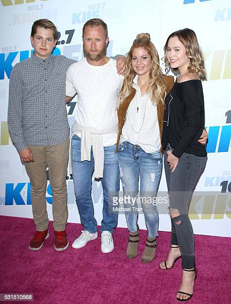 Valeri Bure with Candace Cameron Bure and their children arrive at 102.7 KIIS FM's Wango Tango 2016 held at StubHub Center on May 14, 2016 in Carson,...