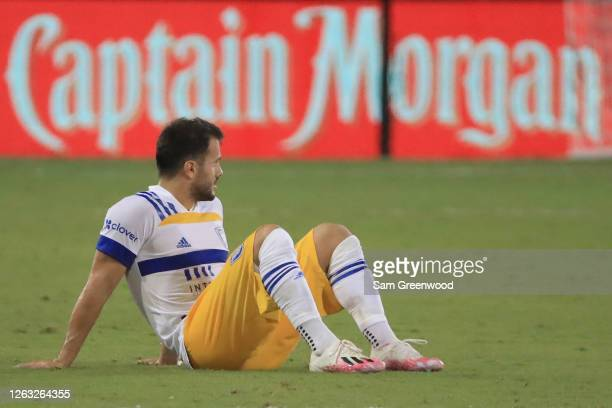 Valeri Kazaishvili of San Jose Earthquakes looks dejected after a loss in a quarter final match of MLS Is Back Tournament against Minnesota United at...