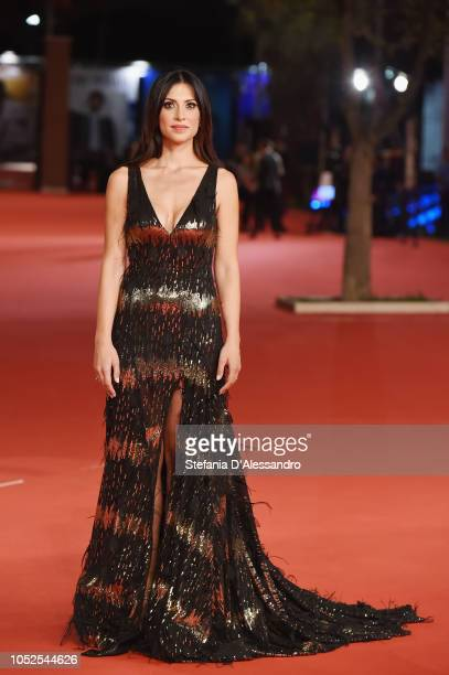 Valeria Altobelli walks the red carpet ahead of the 'The House With A Clock In Its Walls' screening during the 13th Rome Film Fest at Auditorium...
