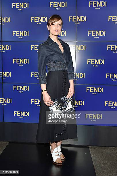 Valeria Bilello arrives at the Fendi show during Milan Fashion Week  Fall Winter 2016  64a6d1850db89