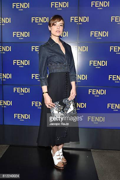 828e3958ec3d Valeria Bilello arrives at the Fendi show during Milan Fashion Week  Fall Winter 2016