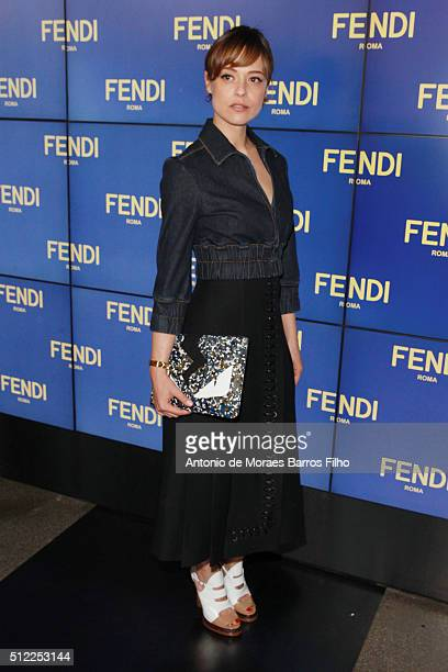 3f1dfdff0931 Valeria Bilello attends at the Fendi show during Milan Fashion Week  Fall Winter 2016