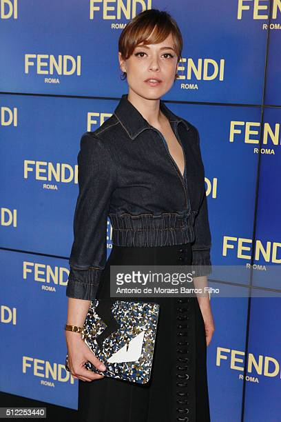 Valeria Bilello attends at the Fendi show during Milan Fashion Week  Fall Winter 2016  e9612b55f710c