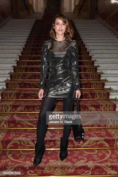 Valeria Bilello attends the Balmain show as part of the Paris Fashion Week Womenswear Spring/Summer 2019 on September 28 2018 in Paris France
