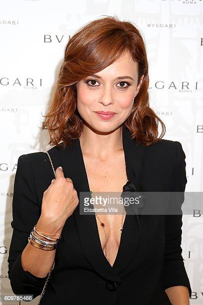Valeria Bilello attends the Bvlgari Tribute To Spanish Steps Opening Event on September 22 2016 in Rome Italy