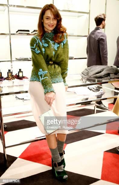 Valeria Bilello attends the cocktail reception to present Prada Resort 2018 collection on December 14th 2017 in Prada's Via dei Condotti stores Rome