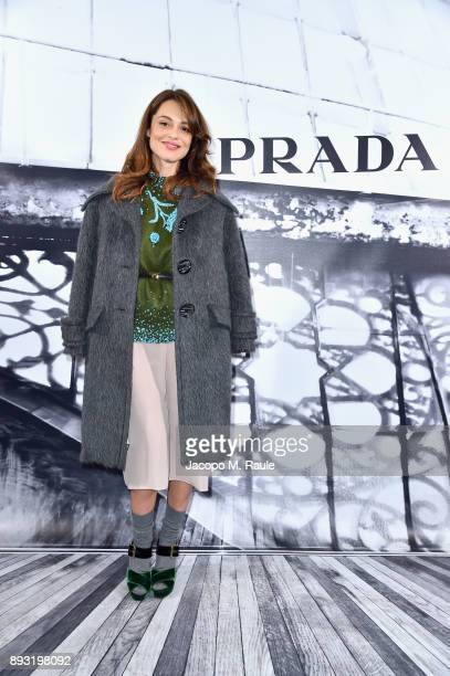 Valeria Bilello attends the cocktail reception to present Prada Resort 2018 collection on December 14th 2017 in Prada's Via dei Condotti stores Rome