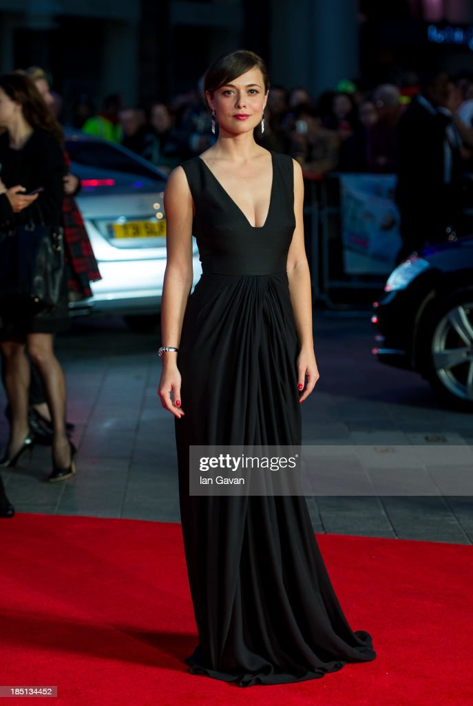 Valeria Bilello attends the European premiere of 'One Chance' at The Odeon Leicester Square on October 17, 2013 in London, England.