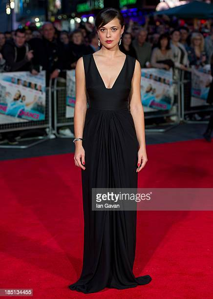 Valeria Bilello attends the European premiere of One Chance at The Odeon Leicester Square on October 17 2013 in London England