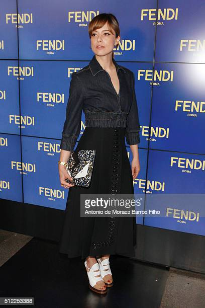 24068530dcb8 Valeria Bilello attends the Fendi show during Milan Fashion Week  Fall Winter 2016 17