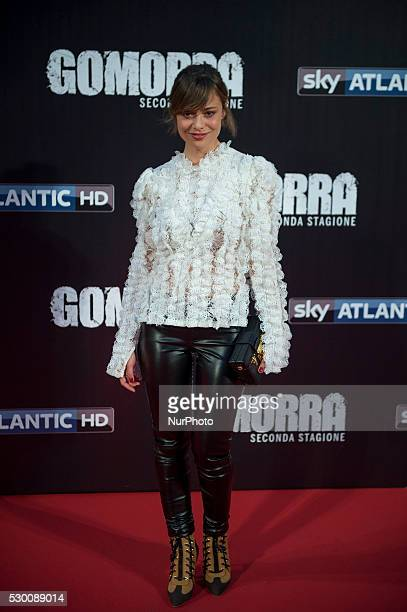 Valeria Bilello attends the 'Gomorra 2 - La serie' on red carpets at The Teatro dell'Opera in Rome, Italy on May 10, 2016.