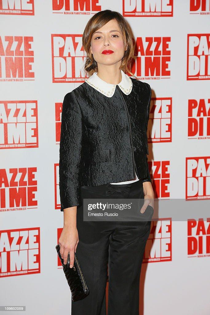 Valeria Bilello attends the 'Pazze di Me' premiere at Teatro Sistina on January 21, 2013 in Rome, Italy.