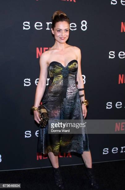 Valeria Bilello attends the 'Sense8' New York Premiere at AMC Lincoln Square Theater on April 26 2017 in New York City