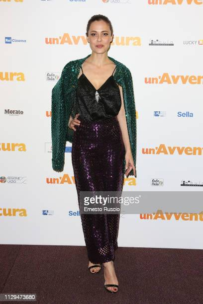 Valeria Bilello attends the Un'Avventura Premiere at The Space Moderno on February 13 2019 in Rome Italy