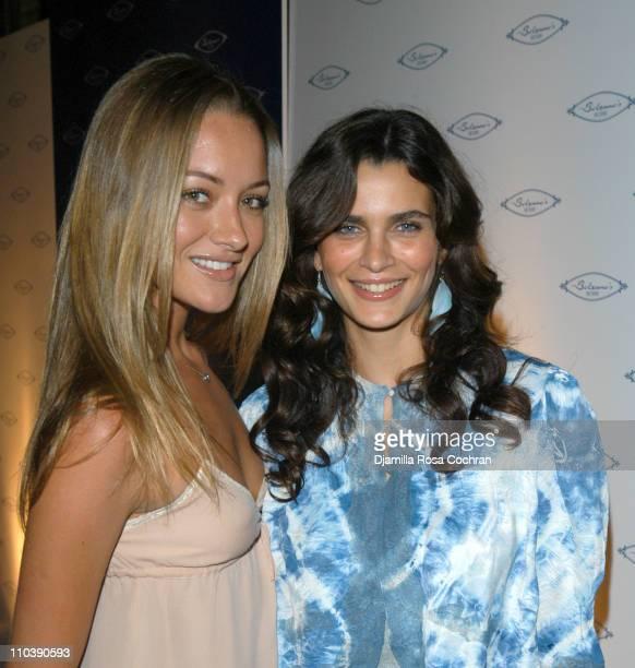 Valeria Bohm and Fernanda Motta during Opening of Marc Packer's Bolzano's at Bolzano's in New York City New York United States