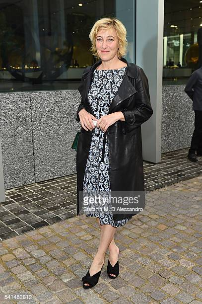 Valeria Bruni Tedeschi attends private dinner hosted by Miuccia Prada and Patrizio Bertelli during Milan Men's Fashion Week SS17 at Fondazione Prada...