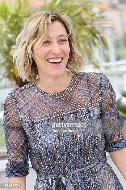 Valeria Bruni Tedeschi attends the 'Asphalte Macadam Story' photocall during the 68th annual Cannes Film Festival on May 18 2015 in Cannes France