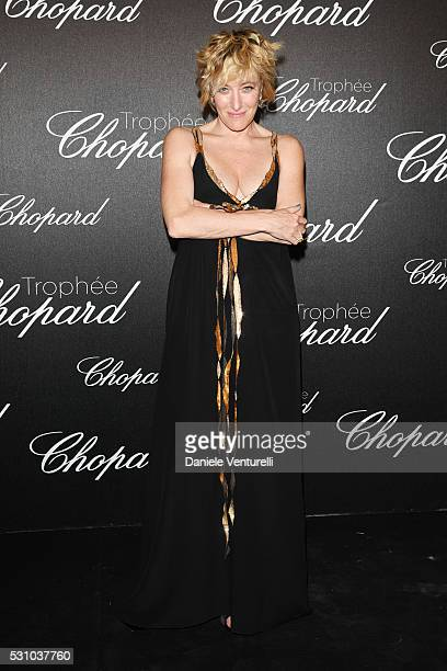 Valeria Bruni Tedeschi attends the Chopard Trophy Ceremony during The 69th Annual Cannes Film Festival on May 12 2016 in Cannes