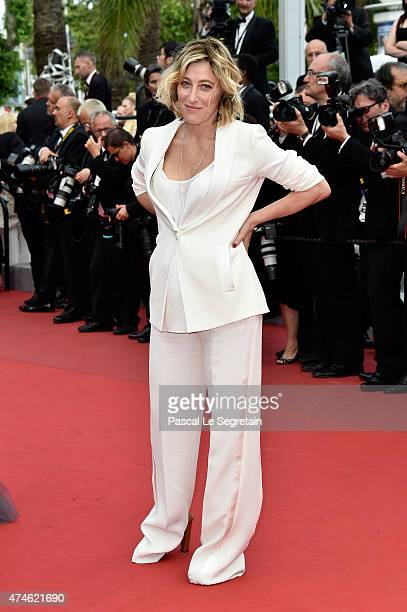 Valeria Bruni Tedeschi attends the closing ceremony and Premiere of 'La Glace Et Le Ciel' during the 68th annual Cannes Film Festival on May 24 2015...